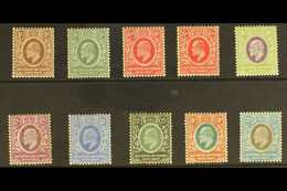 1907 - 8 Ed VII Set, Wmk MCA, SG 34/43, Fine To Very Fine Mint. (10 Stamps) For More Images, Please Visit Http://www.san - Publishers