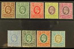 1907-08 Complete Definitive Set, SG 34/42, Fine Mint. (9 Stamps) For More Images, Please Visit Http://www.sandafayre.com - Publishers