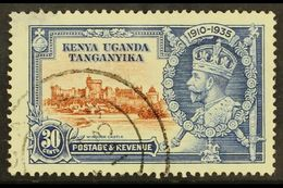 1935 30c Brown And Deep Blue Silver Jubilee, Diagonal Line By Turret, Cds Used, Thin At Upper Left. For More Images, Ple - Publishers