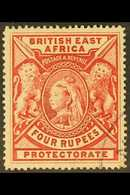 BRITISH EAST AFRICA 1897 4r Carmine, SG 95, Fine Used. For More Images, Please Visit Http://www.sandafayre.com/itemdetai - Publishers