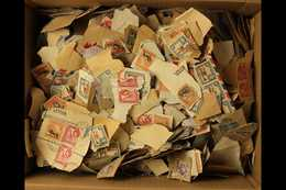KILOWARE 1KG+ Mainly On Paper A Used 1930's To 1960's Unchecked & Unsorted KUT Stamps From The Reigns Of KGV, KGVI & QEI - Publishers