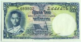 Thailand 1 Baht (P74d) Sign 40 -UNC- - Thaïlande