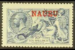 1916-23 10s Pale Blue Seahorse, De La Rue Printing, SG 23, Fine Mint. For More Images, Please Visit Http://www.sandafayr - Nauru