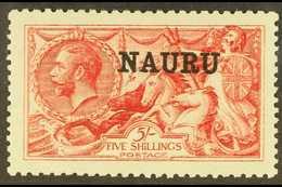 1916-23 5s Bright Carmine Seahorse, De La Rue Printing, SG 22, Very Fine Mint. For More Images, Please Visit Http://www. - Nauru