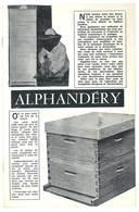 Gazette Apicole (incomplète) ( Abeilles, Ruches , Directeur G. Alphandéry , Montfavet, Vaucluse ) - Animaux