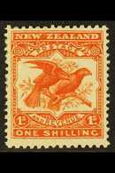 1907-08 1s Orange-red, Perf 14 X 15, SG 385, Fine Mint. For More Images, Please Visit Http://www.sandafayre.com/itemdeta - Nouvelle-Zélande