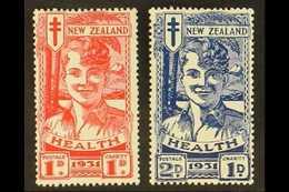 "1931 Health Issue, ""Smiling Boys"" Set, SG 546/7, Fine Mint (2 Stamps). For More Images, Please Visit Http://www.sandafay - Nouvelle-Zélande"