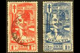 1931 Smiling Boy Health Set, SG 546/7, Used (2 Stamps) For More Images, Please Visit Http://www.sandafayre.com/itemdetai - Nouvelle-Zélande