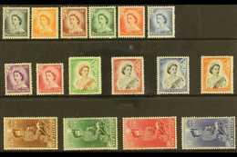 1953-59 Definitive Set, SG 723/36, Never Hinged Mint (16 Stamps) For More Images, Please Visit Http://www.sandafayre.com - Nouvelle-Zélande