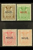"""1941-67 Postal Fiscal Stamps Ovptd With SG Type 17 """"NIUE,"""" Watermark SG Type W43, Thin """"Wiggins Teape"""" Paper, SG 79/82,  - Niue"""