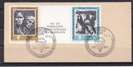 DDR, Nr. 1680/81 ZD SST Auf Briefstück (K 3941) - DDR