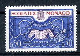 Monaco, 1963, Scolatex Stamp Exhibition, MNH, Michel 741 - Monaco