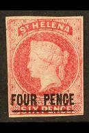 1863 4d Carmine, SG 5, Very Fresh Mint With Four Margins And Large Part Original Gum. For More Images, Please Visit Http - Sainte-Hélène