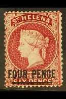 1864-80 4d Carmine (Type B), Perf 14 X 14½, SG 24, Fine Mint. For More Images, Please Visit Http://www.sandafayre.com/it - Sainte-Hélène