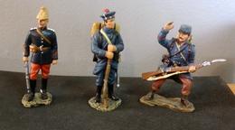 Soldats De Plomb, Armée Française 1914 , 3 Figurines - Soldats De Plomb