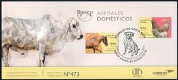 Costa Rica [UPAEP 2018] Animali Domestici (cavallo; Gallina)/Domestic Animals (horse, Chicken) - Philatelic Bulletin - Fattoria