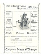"""Page Publicitaire - Moteur BRUSS Concessionnaire """" Comptoirs Belges à L'Etranger"""" , Revue Chasse & Pêche De1914 (b244) - Advertising"""