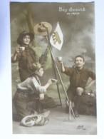 CPA - Lot De 4 Cartes - Boy Scouts - Au Campement, Au Repos, Tout Droit, Sans Peur - Scoutisme