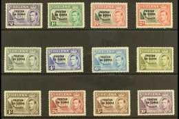 1952 KGVI Opt'd Complete Definitive Set, SG 1/12, Fine Mint (12 Stamps) For More Images, Please Visit Http://www.sandafa - Tristan Da Cunha