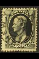 1870-71 30c Full Black Hamilton, SG 156, Scott 143, Neat Oval Cancel. For More Images, Please Visit Http://www.sandafayr - United States