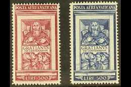 1951 Air Centenary - Decree Of Gratian Set, Sass S.504, SG 173/74, Fine Mint (2 Stamps) For More Images, Please Visit Ht - Vatican