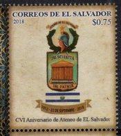 EL SALVADOR , 2018, MNH, ATENEO DE EL SALVADOR, LITERATURE, WRITING ,1v - Stamps