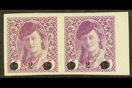 """ISSUES FOR BOSNIA 1919 """"2"""" On 6h Mauve Surcharge (Michel 27, SG 50), Mint Marginal Horizontal PAIR, Fresh, Minor Ripples - Yougoslavie"""