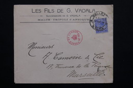 MALTE - Enveloppe De Valletta Pour Marseille En 1914 , Contrôle Postal -  L 20970 - Malte