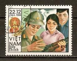 1984 - 40è Anniversaire Fondation Armée Populaire Vietnamienne N°550F - Viêt-Nam