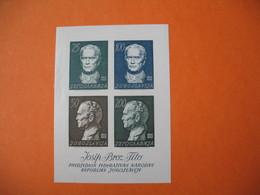 Bloc  1962   Yougoslavie Josip Broz Tito  N° 8  Neuf ** - 1945-1992 République Fédérative Populaire De Yougoslavie