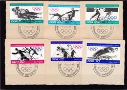 DDR, Nr. 1725/30 SST Auf Briefstück (K 3944a) - DDR