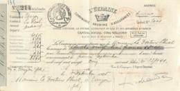 BORDEAUX 1925 - QUITTANCE/RECU DE L'URBAINE - CIE ANONYME D'ASSURANCES - France