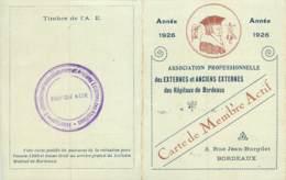 1926 TARGON - CARTE DU EXTERNES ET ANCIENS EXTERNES DES HOPITAUX DE BORDEAUX - Historical Documents