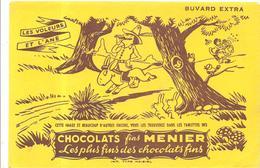 Buvard MENIER Chocolats Fins MENIER LES VOLEURS ET L'ANE - Chocolat
