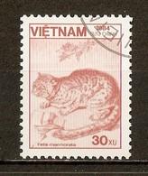 1984 - Faune - Chat Marbré - N°554 - Viêt-Nam