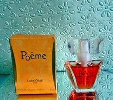 """Miniature """" POÈME """"  De LANCÔME Eau De Parfum Spray  7 Ml Dans Sa Boîte (M76-3) - Miniatures Femmes (avec Boite)"""