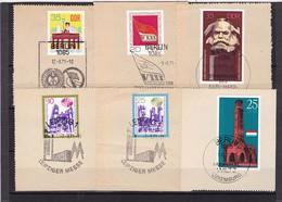 DDR, Nr. Lot Von Marken Aus 1971 Mit SST Auf Briefstück (K 3948) - Gebraucht
