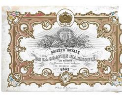 Pas CPA 1852 Voeux De Nouvel An De La Société Royale De La Grande Harmonie Les Bedauds - Fêtes, événements