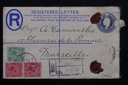 MALTE  - Entier Postal + Complément En Recommandé Pour La France -  L 20974 - Malte