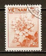 1984 - Flore - Dahlia Coccinea - N°563 - Viêt-Nam