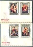 PENRHYN - 30.11.1983 AND 28.12.1983- FDC - CHRISTMAS PAINTINGS RAPHAEL - Yv BLOC 49-53 - Lot 18862 - Penrhyn