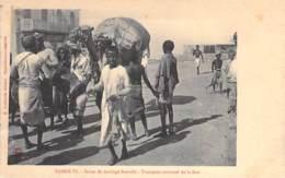 DJIBOUTI - Scène De Mariage Somalis - Transport Solennel De La Dot ( Bonne Animation ) - CPA - - Djibouti