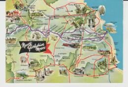 Postcard - Map - North Yorkshire Moors - Unused Very Good - Unclassified