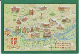Postcard - Map - Of Cambridge Will Ills - Unused Very Good - Unclassified
