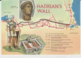 Postcard - Map - Of Hadrian's Wall, Card Number N1703l - Unused Very Good - Unclassified