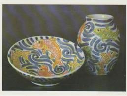Postcard - Mike Levy Bowl 28cm Wide,b Vase 22cm. High  -   Very Good - Cartes Postales