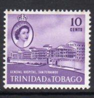 Trinidad & Tobago 1960-7 Definitives 10c Hospital, San Fernando, MNH, SG 289 - Trinidad & Tobago (...-1961)