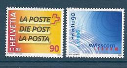 Timbres Neufs** De Suisse, N°1561-2 Yt, Les Ptt Deviennent La Poste De Swisscom - Neufs