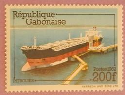 "GABON ANNEE 1982 YT 492 NEUF  ""PETROLIER"" - Gabon (1960-...)"