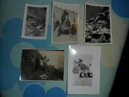 5 FOTO PICCOLE   ESCURSIONISTI  IN MONTAGNA - Persone Anonimi